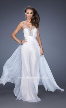 Picture of: Strapless Prom Gown with Lace and Sweetheart Neckline in White, Style: 20115, Main Picture