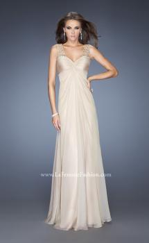Picture of: Long Empire Waist Chiffon Prom Gown with Crystal Beads, Style: 20122, Main Picture