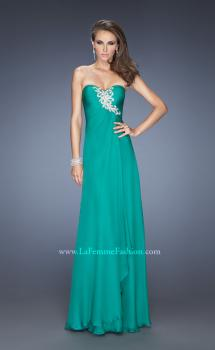 Picture of: Fitted Prom Dress with Layered Skirt and Pleated Bodice, Style: 20129, Main Picture