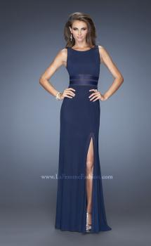 Picture of: Modern Jersey Prom Dress with Side Leg Slit, Style: 20151, Main Picture