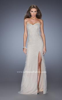 Picture of: Long Prom Dress with Pearl and Rhinestone Detail, Style: 20442, Main Picture