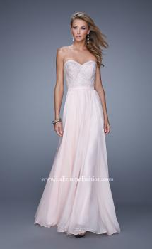 Picture of: Long Strapless Chiffon Prom Gown with Embellishments, Style: 20447, Main Picture