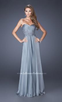 Picture of: Long Prom Gown with Jeweled Lace Accents on the Waist, Style: 20449, Main Picture