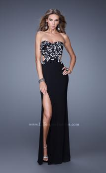 Picture of: Long Jersey Prom Dress with Sequined Lace Appliques, Style: 20536, Main Picture