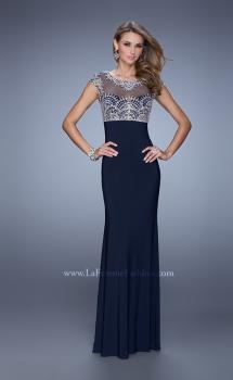Picture of: Elegant Prom Dress with Intricately Beaded Bodice in Blue, Style: 20537, Main Picture
