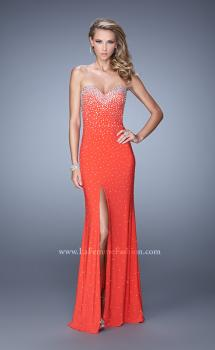 Picture of: Jersey Prom Dress Encrusted in Iridescent Jewels, Style: 20538, Main Picture