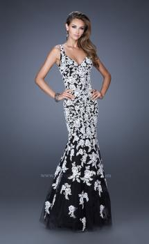 Picture of: Long V Neck Mermaid Prom Dress with Lace Appliques, Style: 20556, Main Picture