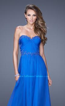 Picture of: Beaded Lace Applique Sweetheart Neckline Prom Dress, Style: 20669, Main Picture