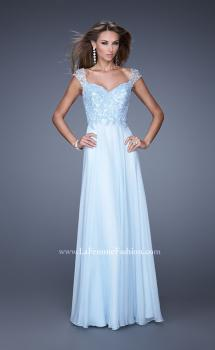 Picture of: Beaded Lace Sweetheart Prom Dress with Sheer Straps, Style: 20701, Main Picture
