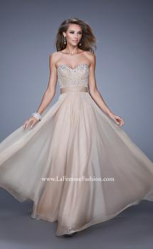 Picture of: Vintage Inspired Strapless Prom Dress with Embellishments, Style: 20708, Main Picture