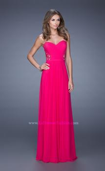 Picture of: Strapless Jersey Prom Dress with Criss Cross Gathers, Style: 20718, Main Picture
