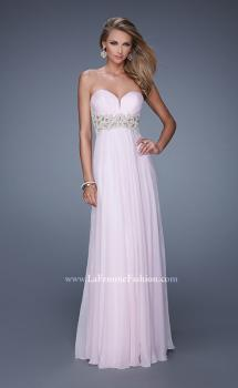 Picture of: Sheer Pearl Encrusted Strapless Dress with Embroidery, Style: 20727, Main Picture