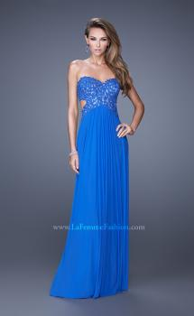 Picture of: Jewel Lace Bodice Long Net Jersey Prom Dress, Style: 20733, Main Picture