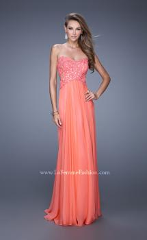 Picture of: Sweetheart Neckline Ling Prom Dress with Cut Outs in Coral, Style: 20734, Main Picture