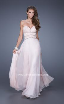 Picture of: Embellished Strapless Gown with Sweetheart Neck in Pink, Style: 20743, Main Picture