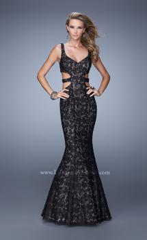 Picture of: Long Lace Mermaid Dress with Cut Outs, Style: 20824, Main Picture