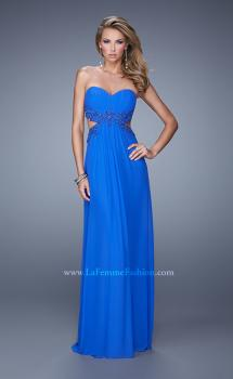 Picture of: Long Jersey Prom Dress with Beaded Lace Trim, Style: 20826, Main Picture