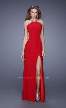 Picture of: Sleeveless Dress with Sheer Straps and Crystal Beading, Style: 20842, Main Picture