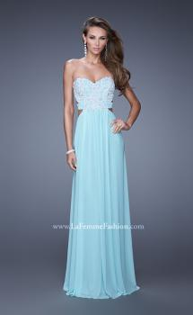 Picture of: Embellished Net Jersey Dress with Cut Outs and Side Straps, Style: 20861, Main Picture