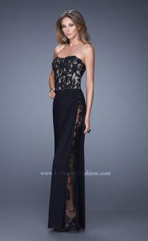 Picture of: Long Lace Corset Bodice Prom Dress with Open Back, Style: 20869, Main Picture