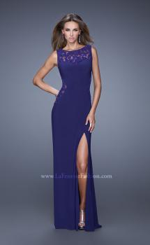 Picture of: Jersey Prom Dress with Sheer Side and Neckline Panels, Style: 20894, Main Picture
