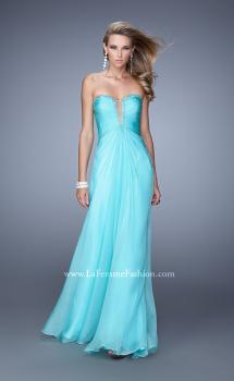 Picture of: Graceful Strapless Chiffon Dress with Iridescent Stones, Style: 20930, Main Picture