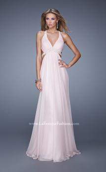 Picture of: Open Back Halter Prom Dress with V Neckline in Pink, Style: 20941, Main Picture