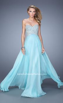 Picture of: Chiffon Prom Dress with Sweetheart Neckline and Pearls, Style: 20952, Main Picture