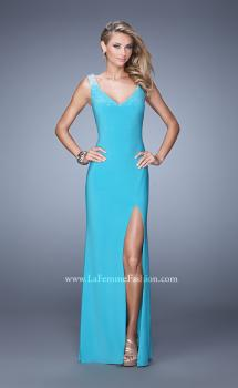 Picture of: Sleeveless Prom Dress with V Neck and Rhinestones, Style: 20984, Main Picture