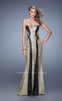 Picture of: Floor Length Strapless Gown with Pearls and Sequins, Style: 20987, Main Picture