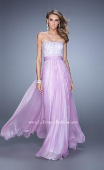 Picture of: Gathered Waistband Long Prom Dress with Crystal Beads, Style: 21015, Main Picture