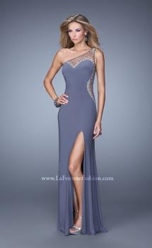 Picture of: Long One Shoulder Prom Dress with Iridescent Stones, Style: 21026, Main Picture