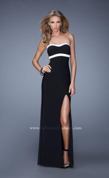 Picture of: Chic Jersey Prom Dress with Contrasting Back Straps, Style: 21031, Main Picture