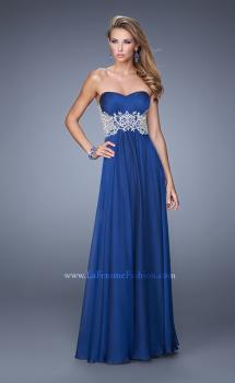 Picture of: Glamorous Prom Dress with Beaded Metallic Embroidery, Style: 21040, Main Picture