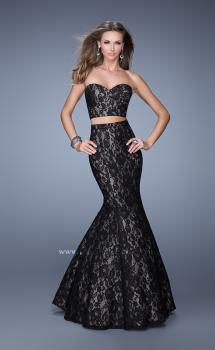 Picture of: Two Piece Lace Dress with Mermaid Skirt in Black, Style: 21050, Main Picture