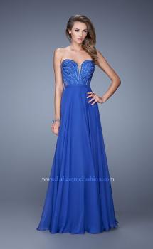 Picture of: Charming Chiffon Dress with Sheer Sides and Stones, Style: 21054, Main Picture