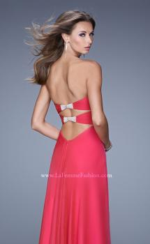 Picture of: Sweetheart Neckline Prom Dress with Crisscross Bodice in Red, Style: 21057, Main Picture