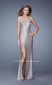 Picture of: Glam Sequin Prom Dress with Deep V Cut and Stones, Style: 21061, Main Picture