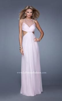 Picture of: Long Halter Prom Dress with Cut Outs and Open Back, Style: 21090, Main Picture
