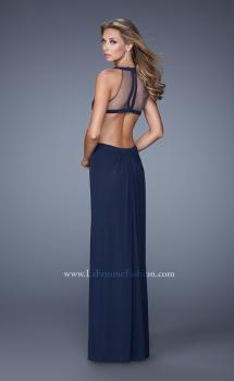 Picture of: Long Prom Gown with Ruched Bodice and Open Back in Plum, Style: 21144, Main Picture