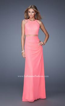 Picture of: Elegant Prom Dress with Sheer Cutouts and Sequins in Pink, Style: 21147, Main Picture