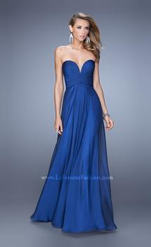 Picture of: Stunning Chiffon Prom Dress with Gathered Bodice, Style: 21154, Main Picture