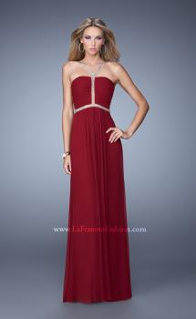 Picture of: Sheer Back Jersey Prom Dress with Rhinestones, Style: 21185, Main Picture