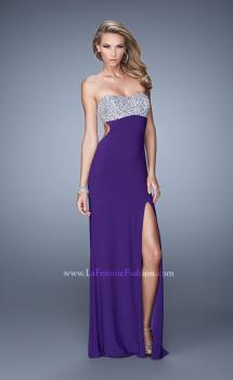 Picture of: Long Jersey Prom Dress with Beading and Split Straps, Style: 21200, Main Picture