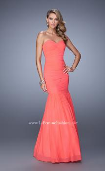 Picture of: Rhinestone Long Prom Gown with Gathering in Pink, Style: 21203, Main Picture