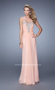 Picture of: Beaded Embroidery Prom Dress with Gathered Bodice, Style: 21214, Main Picture