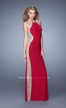 Picture of: Accented Rhinestone Prom Dress with Scoop Neck, Style: 21224, Main Picture