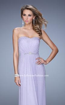 Picture of: Ruched Fully Embellished Long Prom Dress, Style: 21237, Main Picture