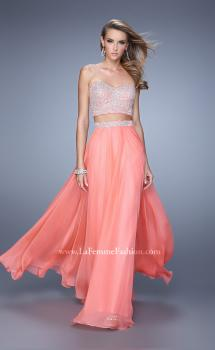 Picture of: Long Two Piece Dress with Trim Beaded Embroidery, Style: 21269, Main Picture