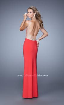 Picture of: Long Gown with Sheer Net Straps and Scoop Open Back, Style: 21304, Main Picture